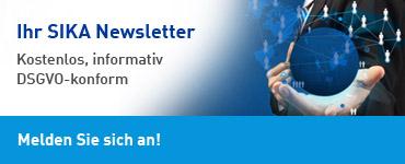 Ihr SIKA Newsletter - Kostenlos, informativ, DSGVO-konform