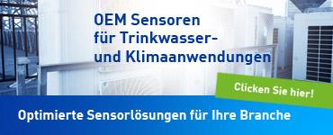 SIKA OEM Sensoren für Klima- und Trinkwasseranwendungen - optimiert für Ihre Branche